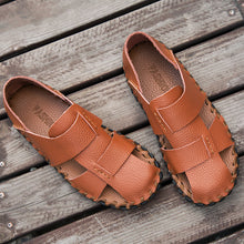 Cow Leather Hand Stitching Sandals