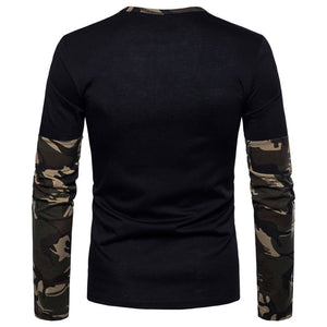 Camouflage Cotton Pullover Cartoon Men's Hoodies