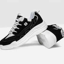 Breathable Solid Color Lace Up Men's Sneakers