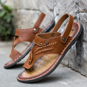 Real Leather Flip-flops