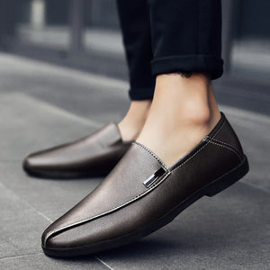 Cow Leather Soft Bottom  Casual Shoes