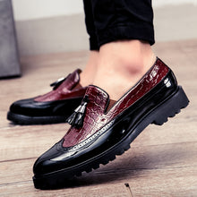Stitching Leather Pendant Business Men's Dress Shoes