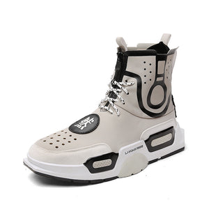 High Waist Chinese Atmosphere Hole Men's Boots