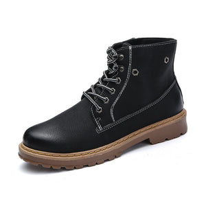 Leather Vintage High Classic Men's Boots