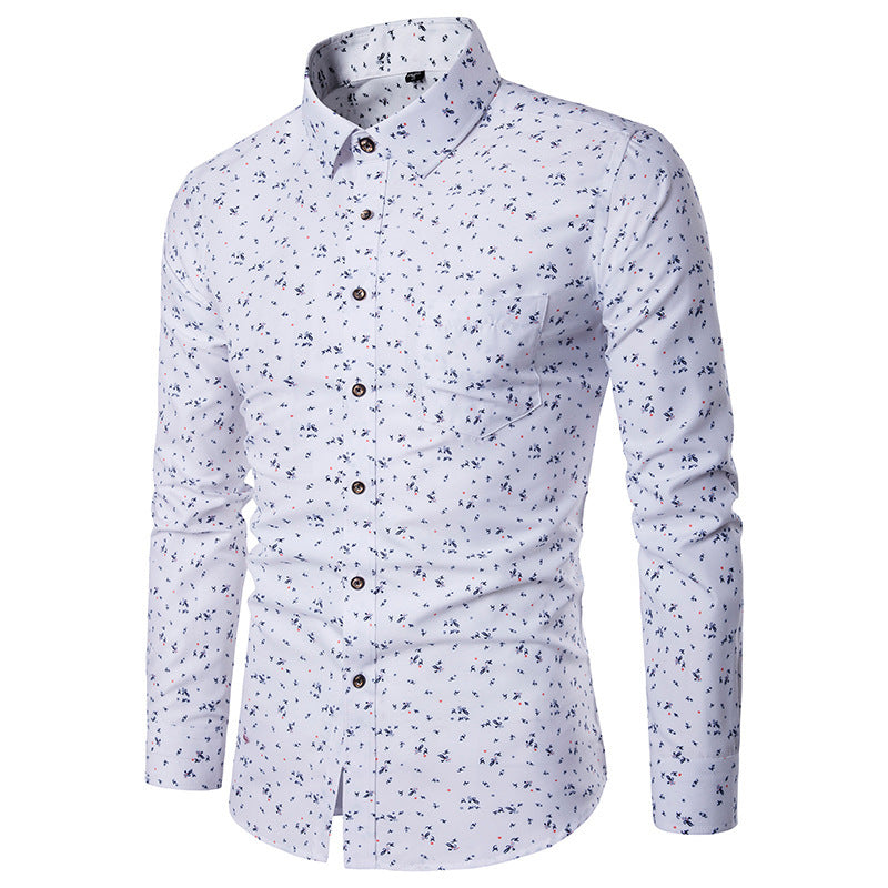 Floral Slim Long Sleeve Shirt