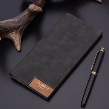 Long Section Solid Color Splice Soft Men's Wallets