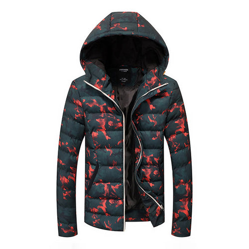 Camouflage Plus Size Thickened Polyester Men's Down Coat