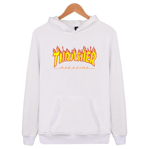 Letter Flame Hoodies