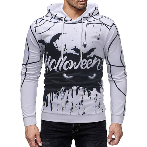 Heap Collar Halloween Plus Size Loose Men's Hoodies