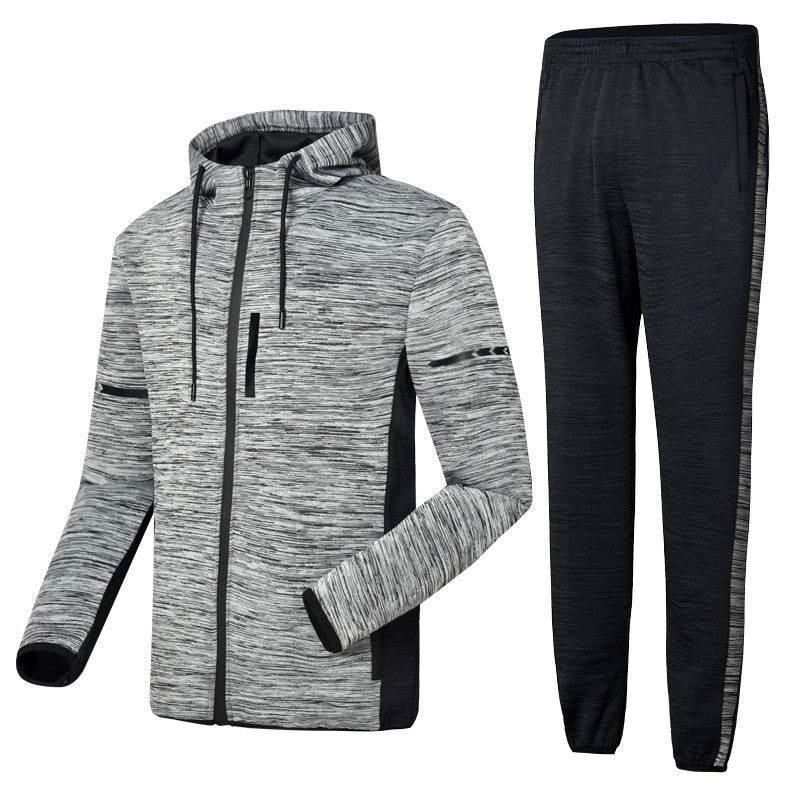 Brief Pocket Comfortable Zippered Men's Sports Suit
