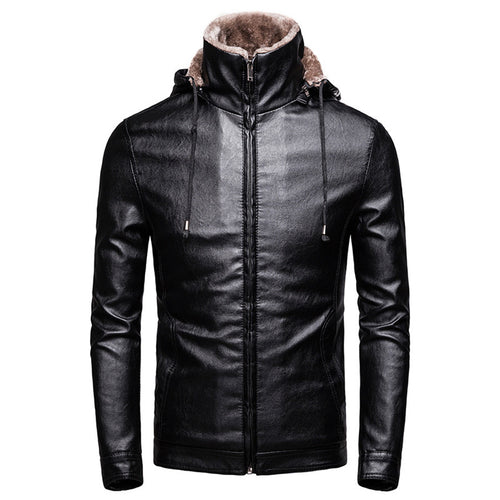 Comfortable Short Brief Men's Leather Coat