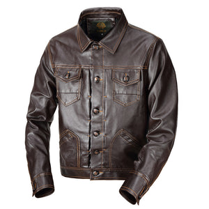 Autumn new men's jacket leather jacket