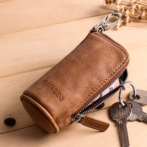 Key Case Genuine Leather Retro Men's Wallets