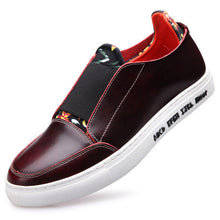 British Floral Leather Pedal Men's Casual Shoes