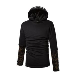 Hooded Cotton Letter Casual Men's Outerwears