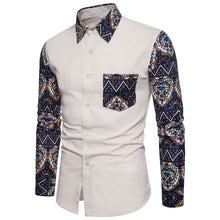 Big Code Long Sleeve Printing Men's Shirt