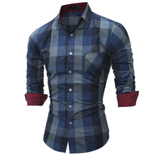 Plaid Casual Slim Shirt
