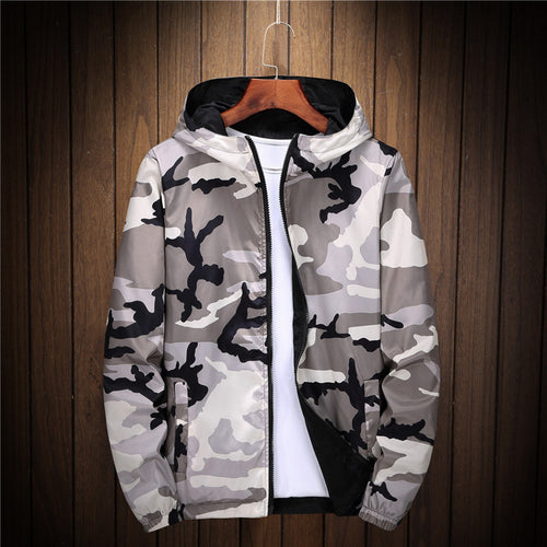 Camouflage Casual Cardigan Zipper Men's Jacket