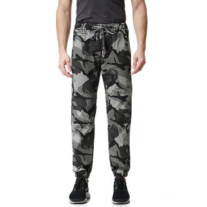 Camouflage Casual Lace-Up Plus Size Men's Casual Pants