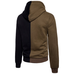 Embroidery Stitching Grinding Sleeve Men's Hoodie
