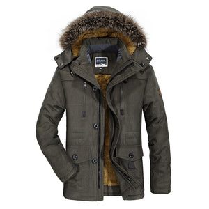Fur Collar Warmth England Simple Men's Down Coat