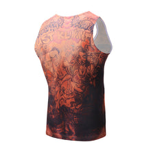 Printed Breathless Sleeveless Gym Vest