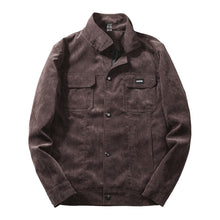 Corduroy Slim Washed Leisure Coat