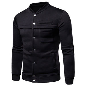 Single Breasted Long Sleeve Men's Outerwears