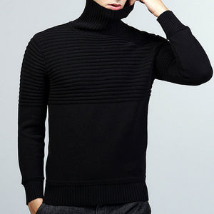 Turtleneck Punk Casual Slim Men's Sweater