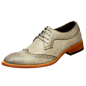 Leather Bullock Point Toe Men's Oxfords