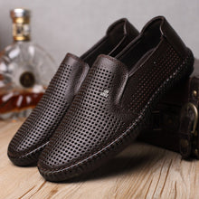 Summer Genuine Leather Hollow Shoes