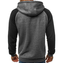 Contrast Color Long Sleeve Pullover Men's Hoodie