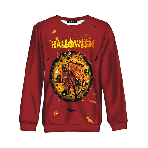 Hit Color Letter Windproof Pumpkin Men's Sweatshirt