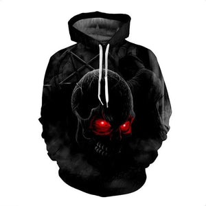 Geometric Skeleton Worn Loose Men's Hoodie