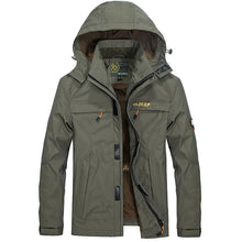 Pocket Waterproof And Loose Size Zippered Men's Jackets Coats