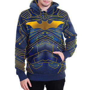 Loose Pullover Bat Printing Halloween Men's Hoodie