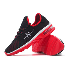 Air Cushion Knit Solid Color Breathable Men's Sneakers