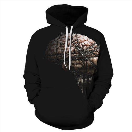 Solid Color Printed Halloween Geometric Men's Hoodies