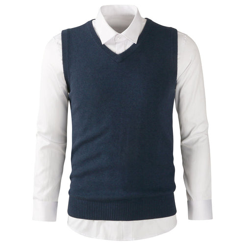 V-Neck Pullover Cotton Comfortable Men's Vest Jacket