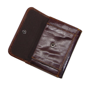 Short Paragraph Genuine Leather Soft Men's Wallets
