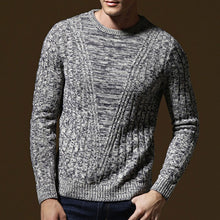 Brief Round Neck Long Sleeve Men's Sweater