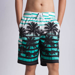 Plant Printed Polyester Men's Pants