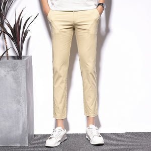 Cotton Ankle-length Casual Pants