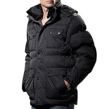Brief  Retro Pure Color Warm Men's Down Coat