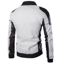 High-collar Leather Jacket With Large Size Men's Outerwear