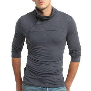Regular High Collar Warm Men's T-shirt