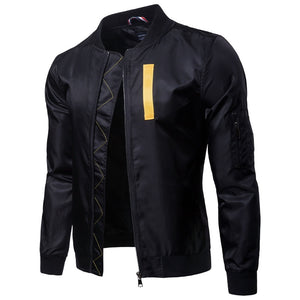 Stand Collar Pure Color Pocket Men's Jackets Coats