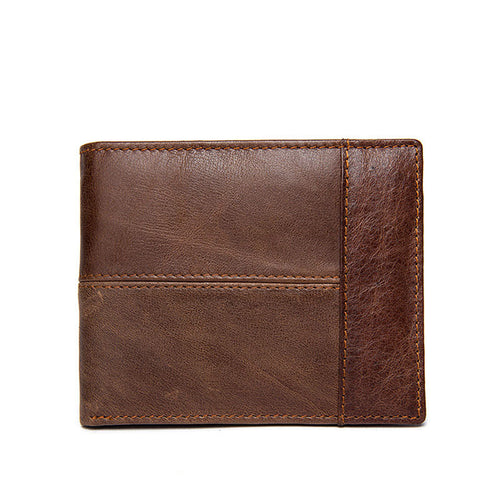 Cow Leather Leather Plain Men's Wallets