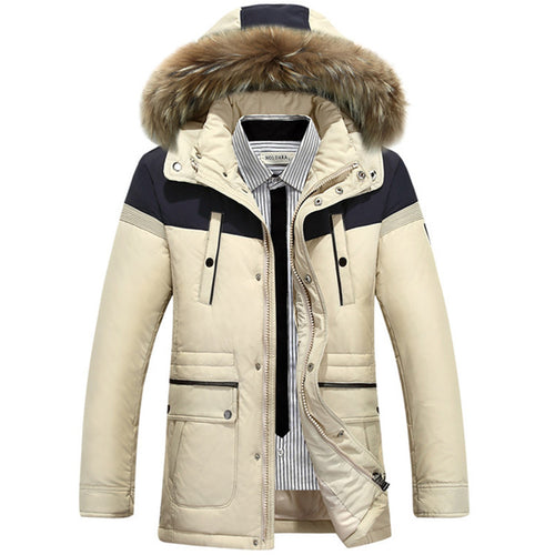 England Casual Regular Long Sleeve Men's Down Coat