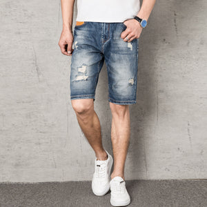 Retro Washed Denim Shorts